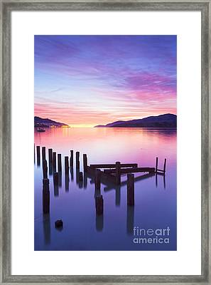 Beautiful Sunset Framed Print by Colin and Linda McKie