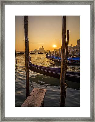 Beautiful Sunset In Venice Framed Print by Francesco Rizzato