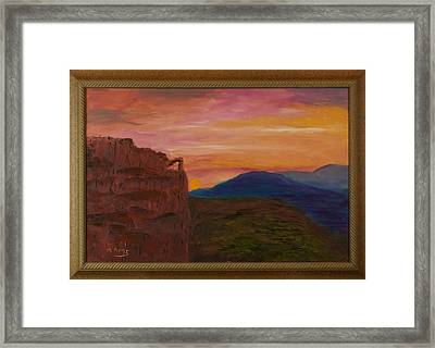 Beautiful Sunset Framed Print by Margaret Pappas