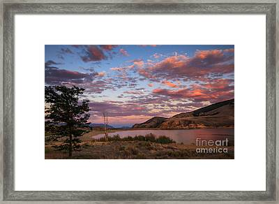 Beautiful Sunset Over Mackay Reservoir Framed Print