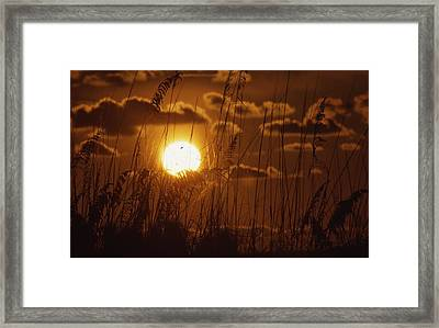 Beautiful Sunset View Framed Print by Retro Images Archive