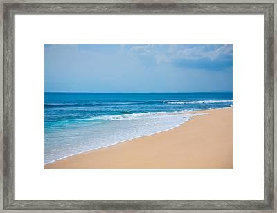 Beautiful Surfing Tropical Sand Beach Framed Print