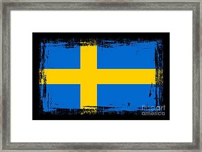 Beautiful Sweden Flag Framed Print by Pamela Johnson