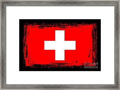 Beautiful Switzerland Flag Framed Print
