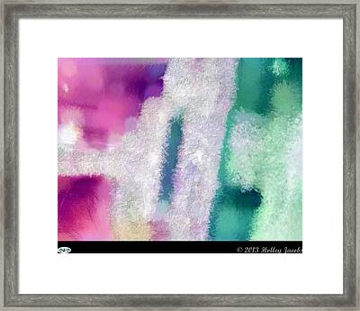 Beautiful Teal Framed Print by Holley Jacobs