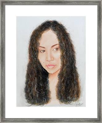 Beautiful Thai  Artist And Model Dao II Framed Print by Jim Fitzpatrick