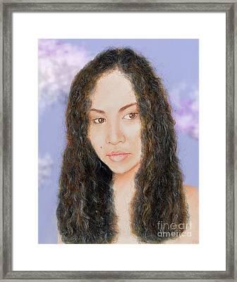 Beautiful Thai  Artist And Model Dao II Version II Framed Print by Jim Fitzpatrick