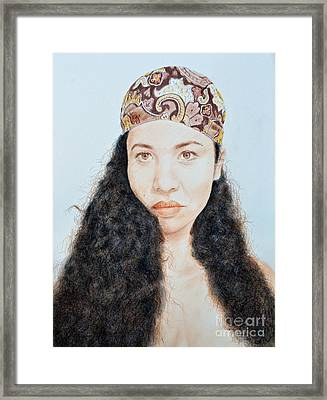 Beautiful Thai  Artist And Model Dao Framed Print by Jim Fitzpatrick