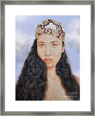 Beautiful Thai  Artist And Model Dao Version II Framed Print by Jim Fitzpatrick