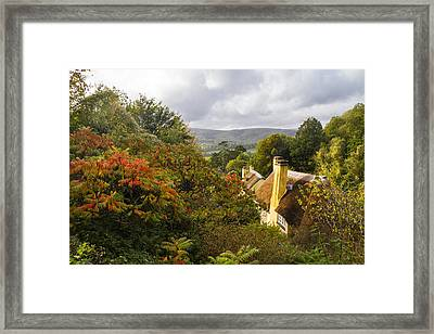 Beautiful Thatched Roof Cottage In Selworthy Framed Print