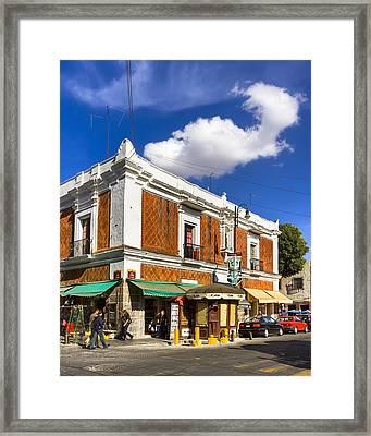Beautiful Tile Facade In Puebla Framed Print