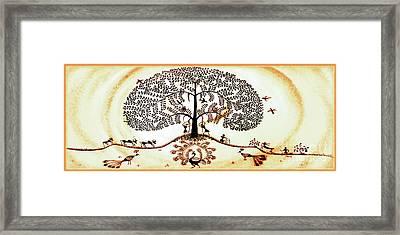 Beautiful Tree Of Life Framed Print by Anjali Vaidya