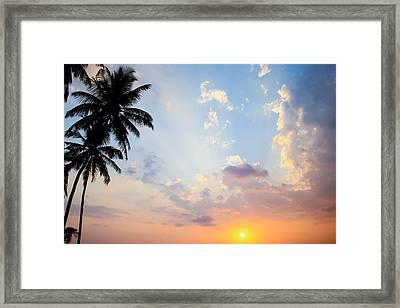Beautiful Tropical Sunset Framed Print