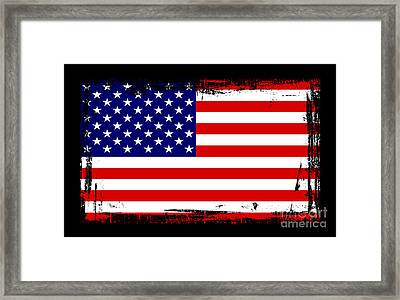 Beautiful United States Flag Framed Print