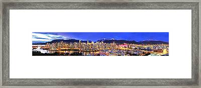 Beautiful Vancouver Panorama Framed Print by Wesley Allen Shaw
