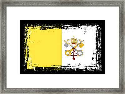 Beautiful Vatican City Flag Framed Print