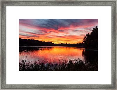 Beautiful Vibrant Sunset Framed Print by Laura Duhaime