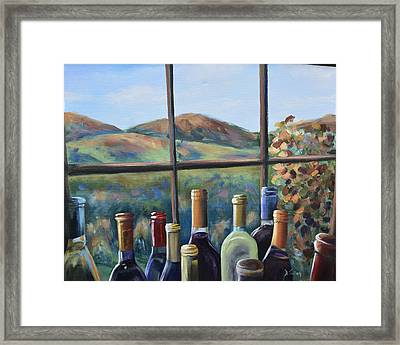 Framed Print featuring the painting Beautiful View by Donna Tuten