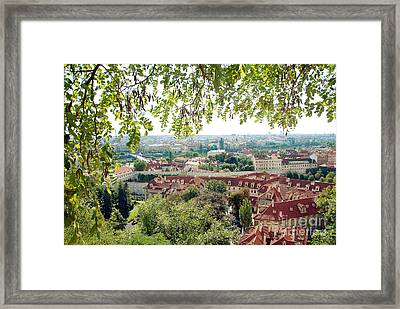 Beautiful View Of Prague Framed Print by Ivy Ho