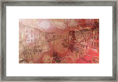 Framed Print featuring the painting Beautiful View Of Italian Silk by Catherine Lott