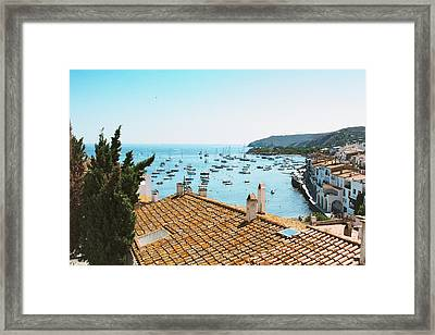 Beautiful Village In Spain Framed Print