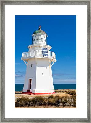 Beautiful Wairapa Point Lighthouse The Catlins Nz Framed Print