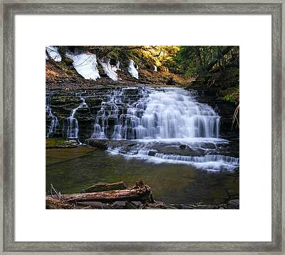 Beautiful Waterfalls Framed Print by Sheila Savage