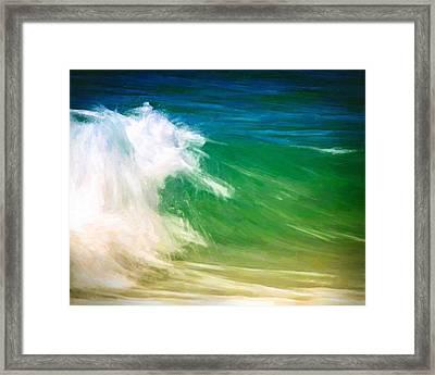 Beautiful Wave Framed Print by Vicki Jauron