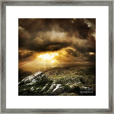 Framed Print featuring the photograph beautiful Wilderness Rugged nature landscape by Boon Mee