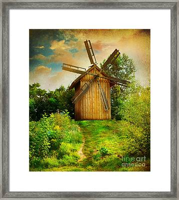 Framed Print featuring the photograph Beautiful Windmill by Boon Mee