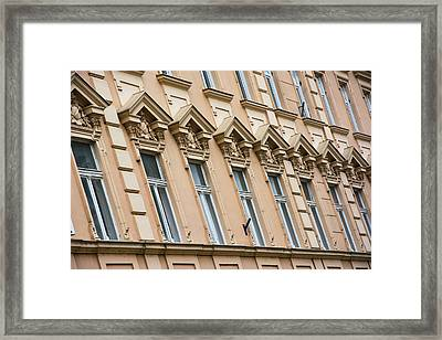 Beautiful Windows In A Row Framed Print by Newnow Photography By Vera Cepic