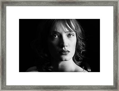 Beautiful Woman Framed Print by Lesley Rigg