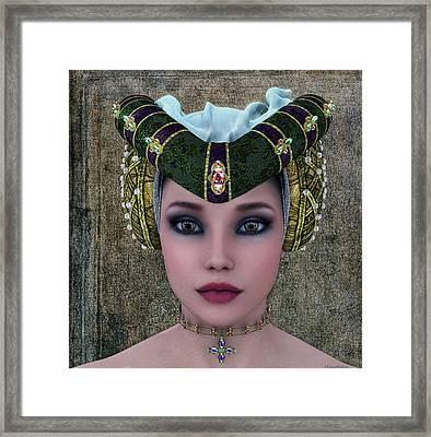 Beautiful Woman Framed Print by Ramon Martinez
