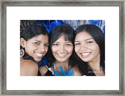 Beautiful Women Of Brazil 10 Framed Print by David Smith