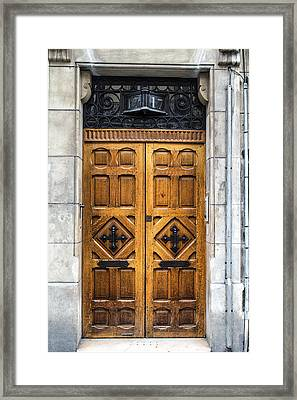 Beautiful Wooden Paris Door Framed Print