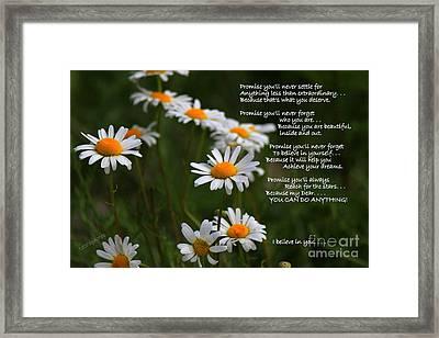Beautiful You Framed Print