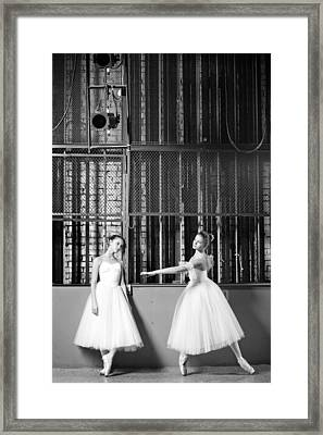 Beautiful Young Ballet Dancers In Rehearsal Framed Print by Ilya Lokalin
