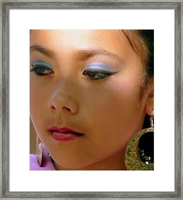 Beautiful Young Girl Framed Print by Jeff Lowe