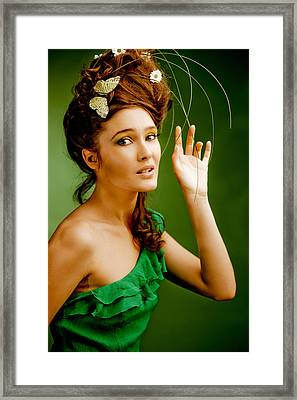 Beautiful Young Woman Portrait Framed Print
