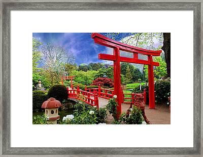 Beautiful Zen Garden Framed Print