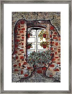 Beauty After Destruction Window Art Prints Framed Print by Valerie Garner