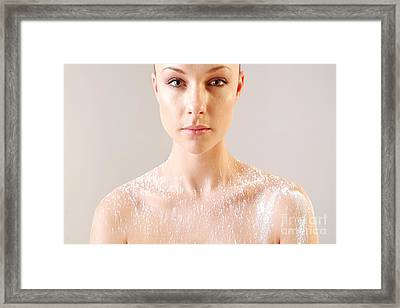 Framed Print featuring the photograph Beauty And Powder by Michael Edwards
