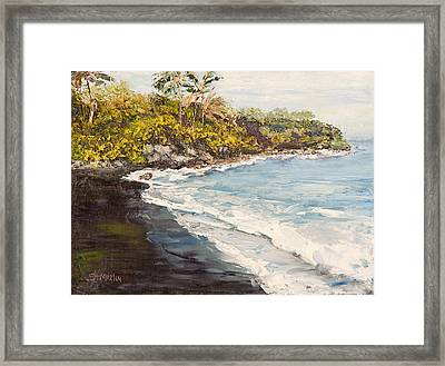 Beauty And The Beach Framed Print by Annie St Martin