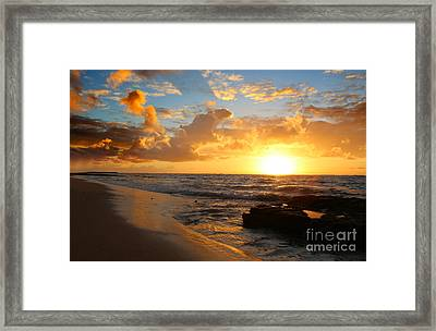 Beauty And The Beach Framed Print