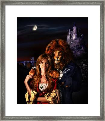 Beauty And The Beast Framed Print by Alessandro Della Pietra