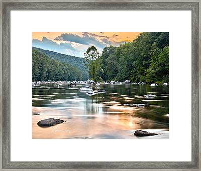 Beauty At Low Tide Framed Print by Tom Cameron