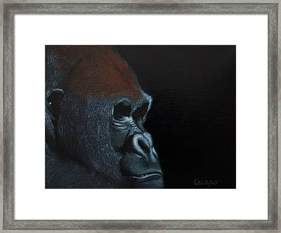 Beauty Behind The Mask Framed Print