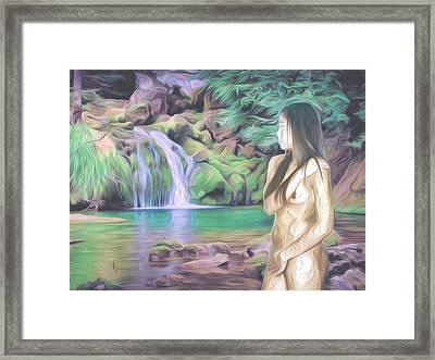 Beauty By The Falls Framed Print