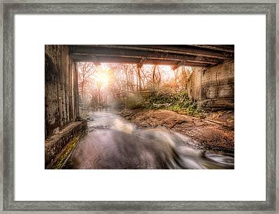 Beauty From Under The Old Bridge Framed Print