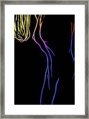 Beauty Girl Framed Print by Steve K